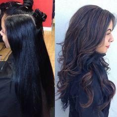 highlights on black hair