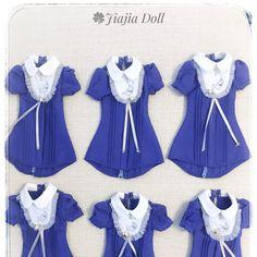 Blue 🌛& ✨ dress. Memories of package  #jiajiadoll #momokodoll #blythe #handmade #dollclothes