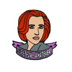 'Sassy Scully' Enamel Pin #xfiles #scully