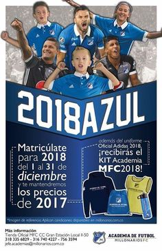 ‪¡Entrena en 2018 en la Academia del Campeón con precios de 2017! Última semana de promoción. Toda la info en http://millonarios.com.co/news/detail/1343-haz-que-tu-2018-sea-mas-azul-que-nunca o al 3183356829 #NosUneLaMismaPasión‬ Millonarios FC - Academia de Fútbol #fashion #style #stylish #love #me #cute #photooftheday #nails #hair #beauty #beautiful #design #model #dress #shoes #heels #styles #outfit #purse #jewelry #shopping #glam #cheerfriends #bestfriends #cheer #friends #indianapolis…