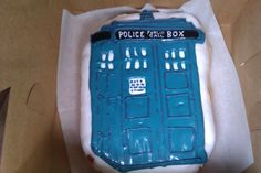 A TARDIS donut/cookie from Voodoo Doughnut, Portland, OR...