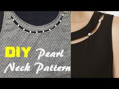 Neck Designs For Suits, Dress Neck Designs, Blouse Designs, Girls Dresses Sewing, Baby Dresses, Fancy Dress Design, Bae Quotes, Easy Sewing Projects, Neck Pattern