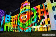 Technicoloured lights of Vivid Sydney 2012