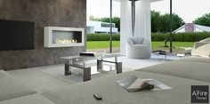 An autonomous smart bio ethanol fireplace represents modern security and comfort for a home fireplace. But why a smart fireplace? Rustic Fireplaces, Modern Fireplace, Fireplace Design, Contemporary Fireplaces, Bioethanol Fireplace, Fireplace Heater, Indoor Outdoor Living, Outdoor Spaces, Bio Ethanol