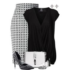 """""""Black and White Date"""" by kswirsding on Polyvore"""