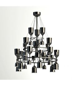 Copacabana Queen 12.6.3 -  High definition 3d model pendant lamp  Copacabana Queen 12.6.3 Chandelier (metalarte) perfect to decorate classic hall & living.