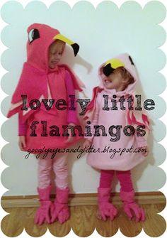 Googly Eyes & Glitter: Handmade Flamingo Costumes