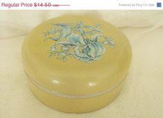 ON SALE Vintage Avon Powder Box by FancySchmancyJewels on Etsy, $11.60