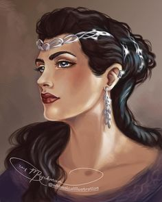 Morwen, the Lady of Dor-Lomin, the elven-fair. Character from Tolkien's tale, The Children of Hurin.