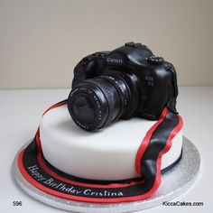 596 Canon Camera Cake - Kicca Cakes, the home of excellence in cake design,
