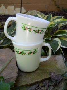 Vintage Corning Christmas Holly Berries by audsdelightsvintage