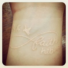 :) <3 (: My white ink tattoo :) <3 (:   #tattoo #ink #whitetattoo