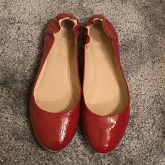 Red flats Cute red flats... Perfect for spring & summer. In very good condition. Mossimo Supply Co Shoes Flats & Loafers