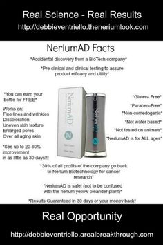 Nerium International - Helping people Look Better and Live Better!
