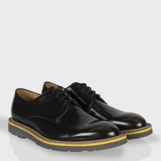 Paul Smith Shoes - Black High-Shine Leather Bailey Shoes
