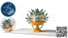 3D Flower Pop up card, Pop up greeting card, Popup card, Kirigami card