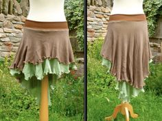 This skirt has been made from lovely soft and twirly cotton with a cotton stretch jersey waistband. It is comfy and floaty and perfect for frolicking