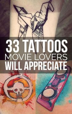33 Beautiful Tattoos Only True Film Lovers Will Appreciate