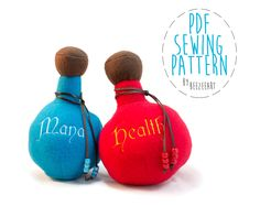 Potion Bottle Plush Free Pattern Pattern Welcome to Craftsy! Learn it. Make it. - via @Craftsy
