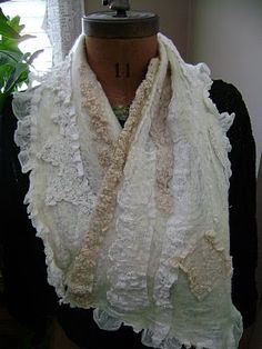 felted lace scarf