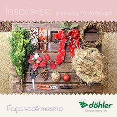 Para começar o dia mais bonito, vamos criar uma guirlanda de natal? Separe os materiais necessários e mãos a obra! Queremos ver o resultado depois. #DIY
