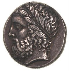 Stater of the Greek city of Olympia, made of silver, minted around 363-343 BC, Money Museum.