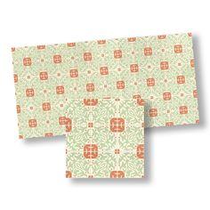 Green & Orange Mosaic Floor Tile