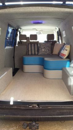 This is an awesome sofa/bed in the back of a t4!