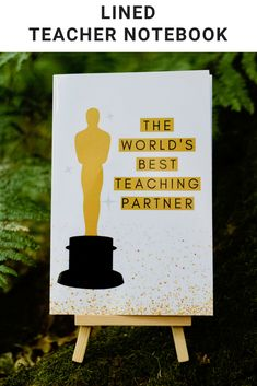 The World's Best Teaching Partner: by notebook, 50 lined pages Great Teacher Gifts, Great Gifts, Teacher Notebook, Lined Page, Stationery, Teaching, World, Paper Mill, Stationery Set