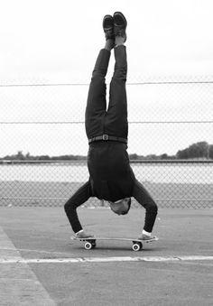 Karim Sadli Kilian Martin Man About Town Editorial Mens Style Blog Skateboard Retro Fifties Inspired Cropped Pants Bright Socks 4