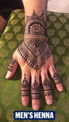 Mens Henna Tattoo, Henna Thigh Tattoo, Hand Tattoos, Henna Ink, Henna Tattoo Designs Simple, Finger Tattoos, Tattoo Designs Men, Pretty Henna Designs, Henna Art Designs