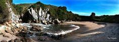 Playa de gulpiyuri en naves llanes