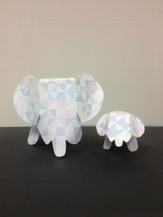 Day 130: Paper elephants for my desk  * a mom and baby
