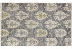 Emily Hand-Knotted Rug, Gray