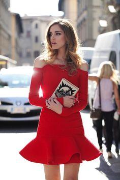 chiara ferragni vestido rojo