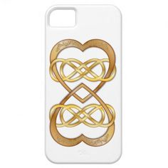 Entwined Hearts Double Infinity in Gold - iPhone iPhone 5 Covers #doubleinfinity