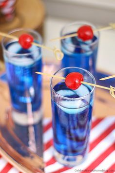 Summer parties need this signature blue cocktail. Serve it for 4th of July, Memorial day, Labor day, nautical themed parties, and more! Get the recipe here.