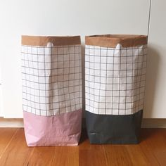 Image of 'Grid' paper storage sack - smaller size Paper Storage, Kids Toys, How To Draw Hands, Grid, Sacks, Pattern, Hand Drawn, Charcoal, Blush