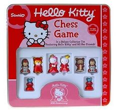 This is where you'll find great chess games for kids. These kids chess sets are made to entertain children. The girls chess sets are girly and the boys chess sets are rough. Chess sets for children are different from regular chess sets. Sanrio Hello Kitty, Hello Kitty Store, Hello Kitty Games, Kids Chess Set, Chess Sets, How To Play Chess, Funko Pop Toys, Hello Kitty Collection, Games For Kids