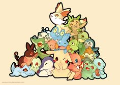 Pokemon: All starters by SeviYummy.deviantart.com on @DeviantArt