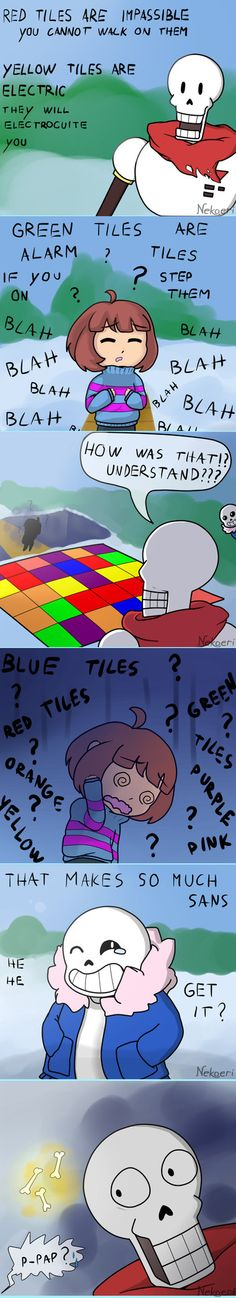 Yeah, my eyes glazed over when I first heard this explanation.... I was relieved when you were able to bypass it... At least for now...  Source Author Notes:Yay more Undertale stuff. I had this idea stuck in my head for a while I was so lazy so I made a crappy background sorry ;w;
