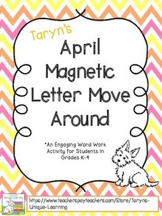 "This giveaway is a perfect word work activity to use with any classroom K-4.  It is a simple activity to differentiate.  Simply post the phrase ""Hopping Down the Bunny Trail"" to the board using magnetic letters.  With students gathered around, invite them to the board to make a word."