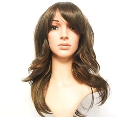 """Synthetic Silky Soft 1970's Throw Back Retro Brown Auburn Wig 16"""" This wig is a 1970's inspired wig that is ideal for any 'throw-back' party events, or for everyday use. The wig is pre-styled therefore very easy to maintain. 'Super Soft Silky Hair'. So simple to wear, put the wig on adjust the hair and you are ready to go. #Wigs #Hair #Hairstyles #HairExtensions #HumanHairWigs #LaceWig #Beauty #VirginHair #Women_Fashion #Fashion #Style #naturalhair"""
