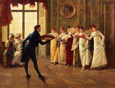 Henry Gillard Glindoni - Fan Flirtation