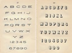 Vintage Lettering Manual Alphabets