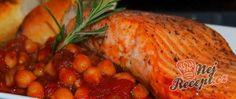 Recept Losos s cizrnovo-rajčatovou omáčkou Baked Potato, Turkey, Potatoes, Meat, Baking, Ethnic Recipes, Pineapple, Turkey Country, Potato