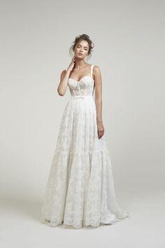 Lihi Hod Bridal Fall 2020 – Famous Last Words Bridal Wedding Dresses, Dream Wedding Dresses, Bridal Style, Prom Dresses, Daisy Wedding, Mermaid Wedding, Lace Wedding, Bridal Collection, Dress Collection