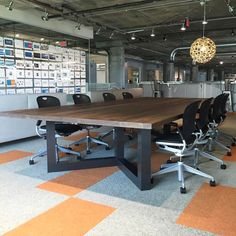 Conference Table Large Wood Table Made With Thick Reclaimed - Large wooden conference table