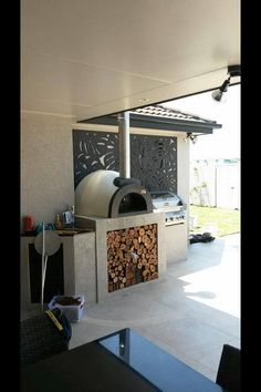 92 best wood-fired pizza oven images in 2018 Outdoor Kitchen Patio, Pizza Oven Outdoor, Bbq Kitchen, Outdoor Kitchen Design, Outdoor Rooms, Outdoor Living, Outdoor Kitchens, Kitchen Ideas, Patio Design