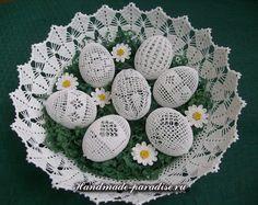 Обвязка крючком пасхальных яиц (11)